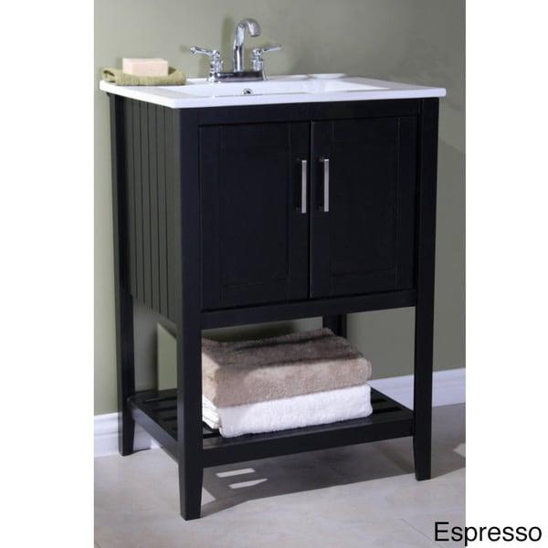 Legion Furniture Ceramic Top 24 Inch Single Sink Bathroom Vanity 15622599