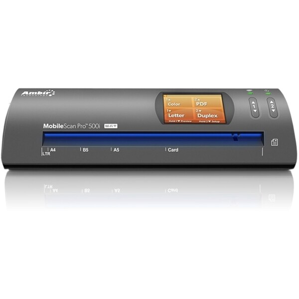 Ambir MobileScan Pro DS500i Sheetfed Scanner - 600 dpi Optical