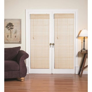 Roman Natural Bamboo French Patio Door Shade