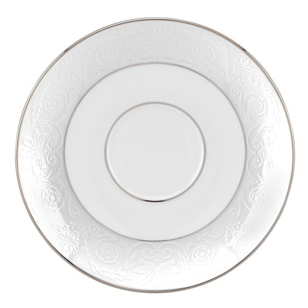 Lenox White and Platinum Artemis Saucer