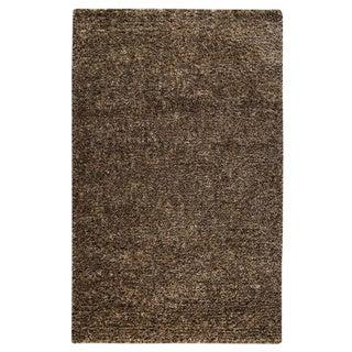 Hand-woven Mali Brown Wool Rug (5' x 8')