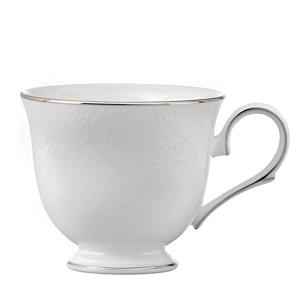 Lenox White and Platinum Artemis Tea Cup