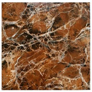 SomerTile 17.75-inch Eclypsis Marron Ceramic Floor and Wall Tile (Case of 7)