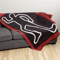 Crime Scene Chalk Outline Flannel Throw