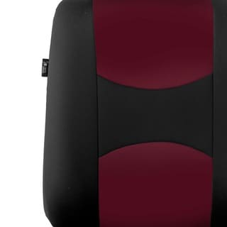 FH Group Burgundy Full Set Fabric Auto Seat Covers