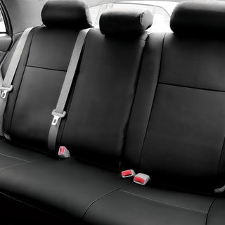 FH Group Custom Fit Black Leatherette 2009-2011 Toyota Corolla Seat Covers (Rear Set)