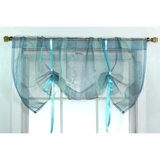 Ribbon Sheer Azure Tie-up Valance