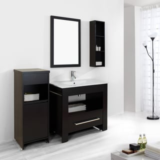 Virtu USA Masselin 36-Inch Single Sink Bathroom Vanity Set