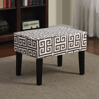 Portfolio Niles Brown Greek Key Ottoman