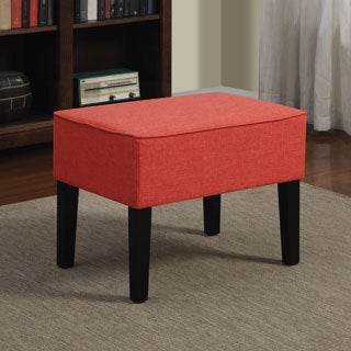 Better Living Niles Sunset Red Linen Ottoman