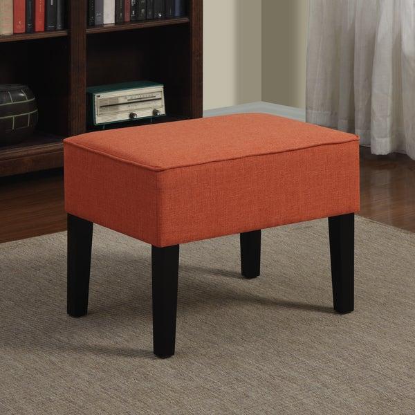 Portfolio Niles Orange Spice Linen Ottoman