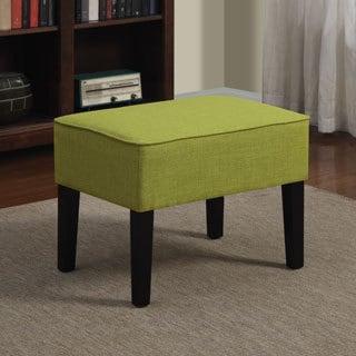 Portfolio Niles Apple Green Linen Ottoman