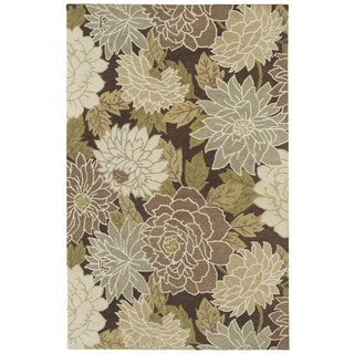 Retreat Brown Floral Hand Tufted Rug (8'0 x 11'0)