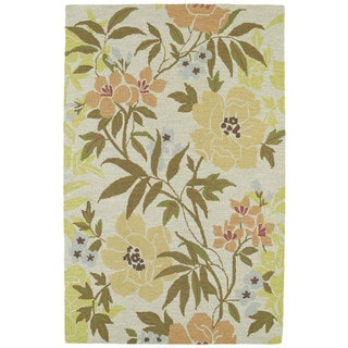 Retreat Oatmeal Floral Hand Tufted Rug (3'0 x 5'0)