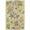 Retreat Oatmeal Floral Hand Tufted Rug (5'0 x 7'6)