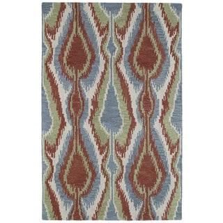 Retreat Multi Ikat Hand Tufted Wool Rug (7'6 x 9'0)