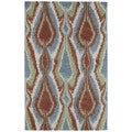 Retreat Multi Ikat Hand Tufted Wool Rug (7'6 x 9'0)