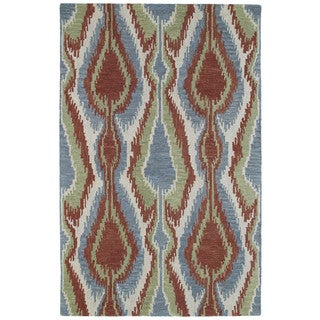 Retreat Multi Ikat Hand Tufted Wool Rug (8'0 x 11'0)