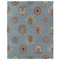 Felicity Blue Flowers Hand Tufted Wool Rug (8'0 x 11'0)
