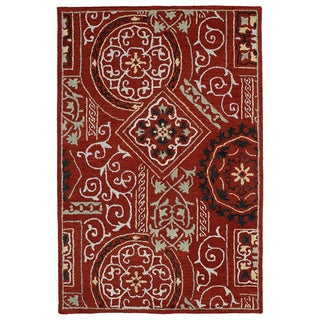 Felicity Red Hand Tufted Wool Rug (2'0 x 3'0)