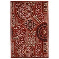 Felicity Red Hand Tufted Wool Rug (7'6 x 9'0)