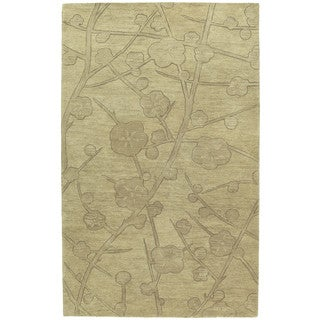 Euphoria Blossom Wheat Tufted Wool Rug (9'6 x 13'0)