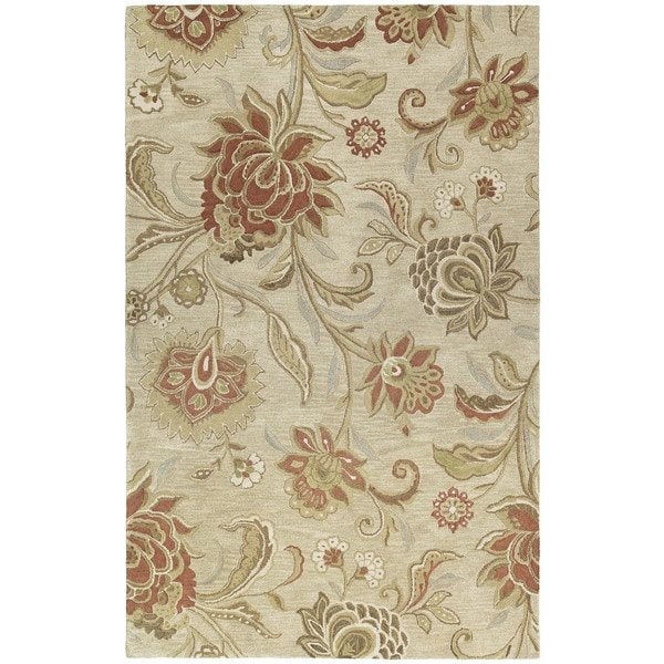 Euphoria Sand Tufted Wool Accent Rug (2'0 x 3'0)