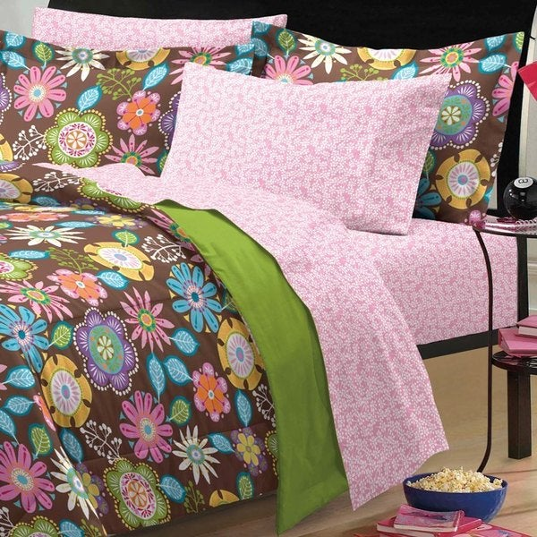 Boho Garden 7-piece Bed in a Bag with Sheet Set