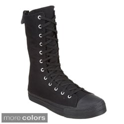 Demonia Men's 'DEVIANT-201' Canvas Calf Sneaker Boots