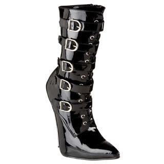 Devious Women's 'SCREAM-1026' Metal Heel Boots