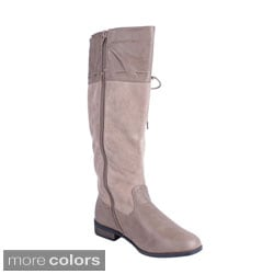 Beston Women's 'MOLLY-02' Knee-high Riding Boots