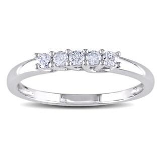 Miadora 10k White Gold 1/6ct TDW Diamond Ring (H-I, I2-I3)