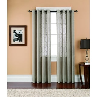 Brielle Athens Sheer Grommet Curtain Panel Pair