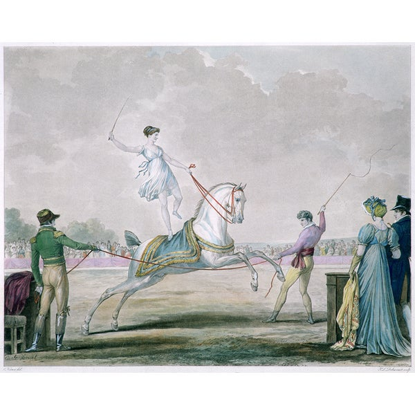 Philibert-Louis Debucourt 'Exercises of the Circus Horse?' Canvas Print