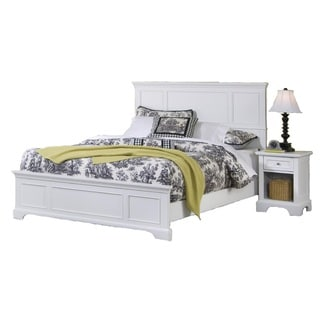 Naples White King Bed And Night Stand