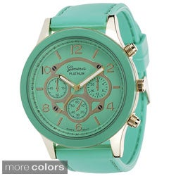 Geneva Platinum Women's Silicone Strap Watch