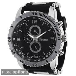 Geneva Platinum Men's Silicone Strap Japanese Quartz Watch