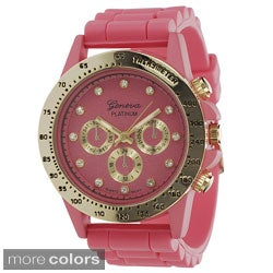Geneva Platinum Women's Silicone Strap Watch