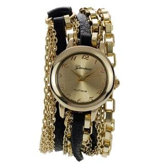 Geneva Platinum Women's Chain Wrap Watch