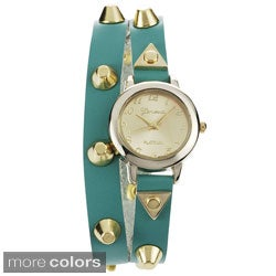 Geneva Platinum Women's Studded Wrap Watch