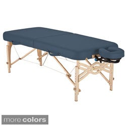 Earthlite Spirit Half Reiki / Half Standard Panel 30-inch Portable Massage Table Package with Flex-Rest