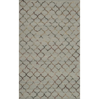 Hand-tufted Echo Beige Wool Rug (7'6 x 9'6)