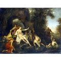 Louis Galloche 'Painting of Diana and Acteon' Canvas Print