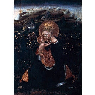 'The Virgin of the Humility Painting, Christianity, Circa 15th Century' Canvas Print