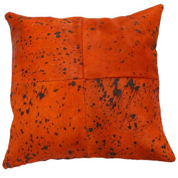 nuLOOM Decorative Stained Cowhide Cotton Pillow