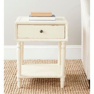 Safavieh Siobhan Distressed Vanilla Night Table