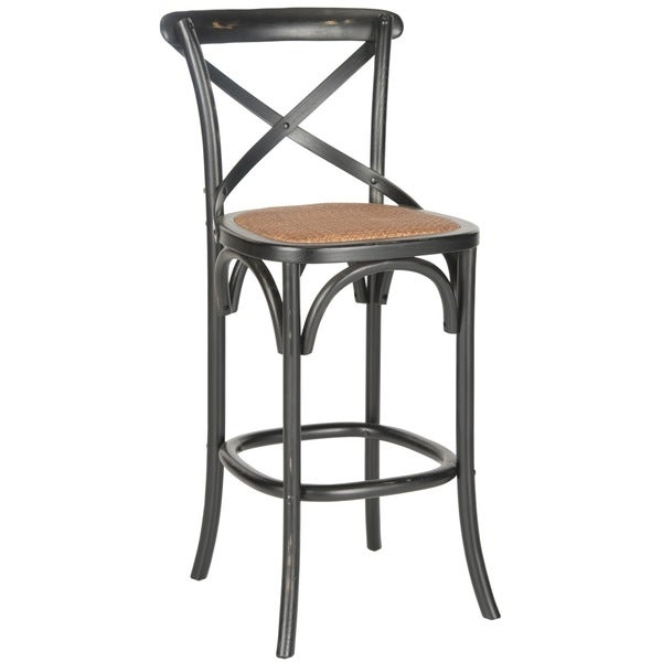 Safavieh 30 7 Inch Franklin Hickory Oak Bar Stool