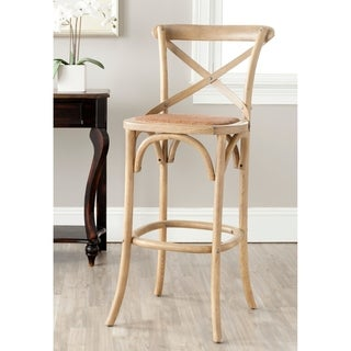 Safavieh Franklin Weathered Oak 30.7-inch Bar Stool
