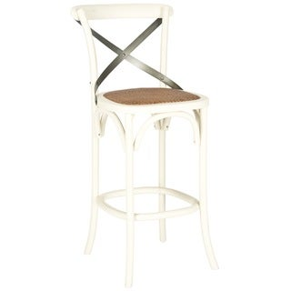 Safavieh Eleanor Ivory Oak Barstool