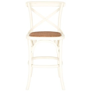 Safavieh 24-inch Franklin X-Back Antique White Counter Stool